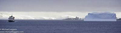 Pre-photo manipulation - Antarctica at dusk by Michael Leggero