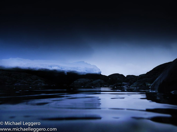 Photoshop manipulated photo: Antarctica at night by Michael Leggero