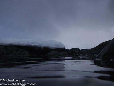 Pre-photo manipulation - Antarctica at night by Michael Leggero