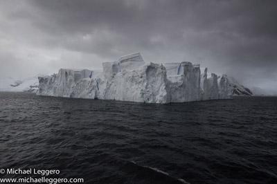 Pre-photo manipulation - Antarctica iceberg by Michael Leggero