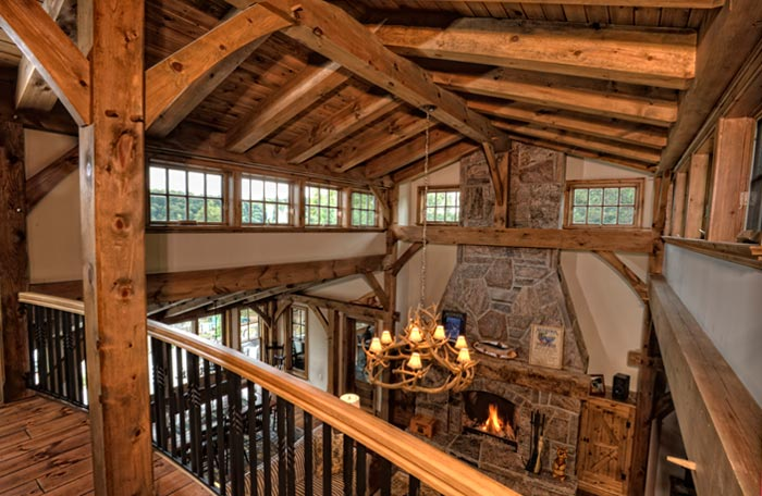 Interior home photography - photo of interior wood beams by Randy Romano
