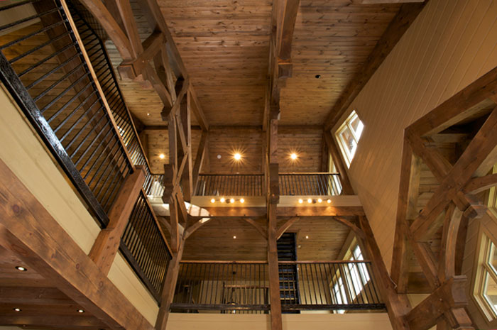 Interior home photography - photo of structure from below by Randy Romano