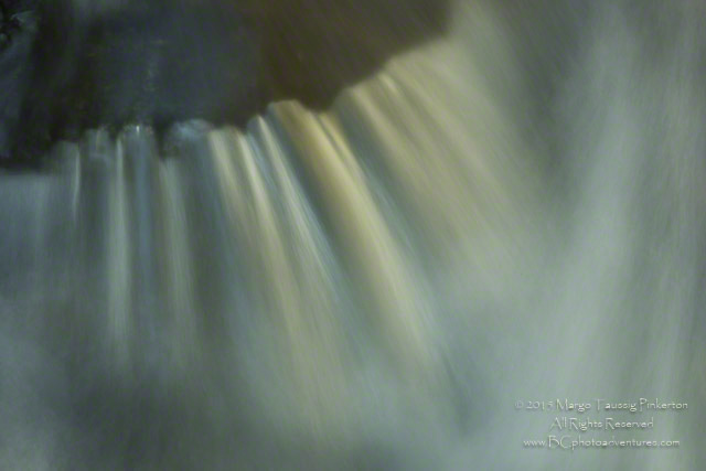 Image of a waterfall with a soft look created by using a slow shutter speed at the Blue Ridge Mountains, North Ca