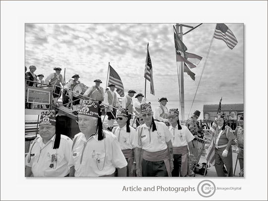 "Photo of ""Aleppo Shriners"" disembarking in Provincetown, Massachusetts by Jim Austin"