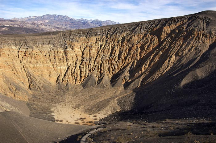 Photo of Ubehebe Crater at Racetrack by Bob Hitchman