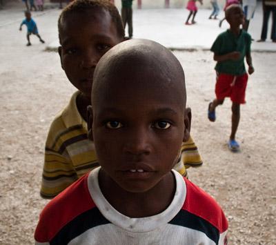 Photo portrait of children in Haiti by Michelle Wong