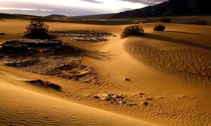 Landscape photo of desert in Death Valley, California by Noella Ballenger