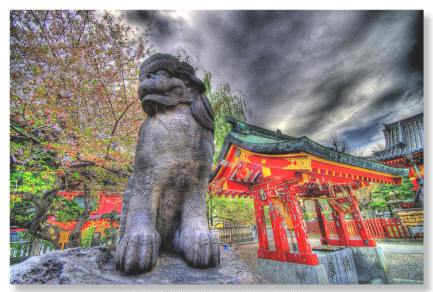 HDR photo of Dog Day in Akasuka Temple in Tokyo by Altus.