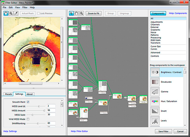 Graphic of the Filter Forge 4.0 Filter Editor.