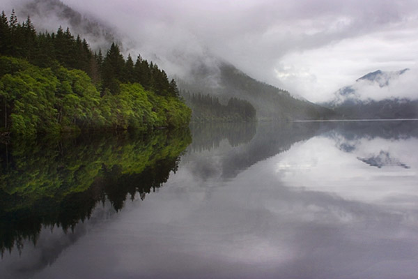 Photo of Crescent Lake, Washington by Noella Ballenger