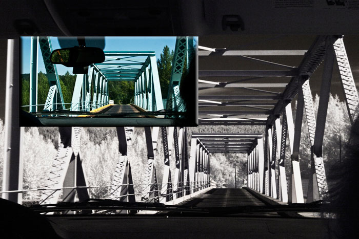 Photo of bridge in infrared and color by Noella Ballenger