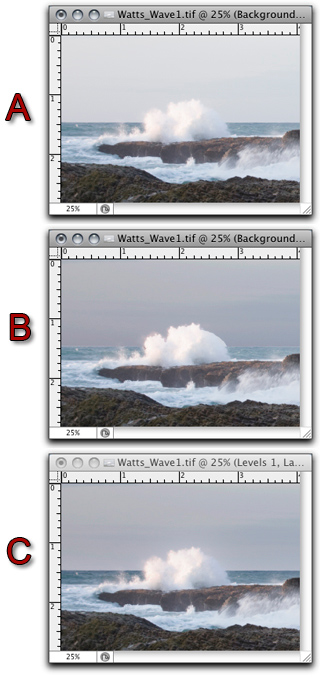 Screen shot of Photoshop's Gaussian Blur tool examples by John Watts.
