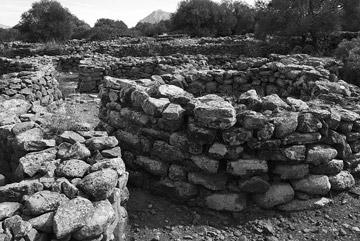 Photo of circular huts for habitation, nuragic village Serra Orrios, Dorgali, Nuoro by John Tollefsen