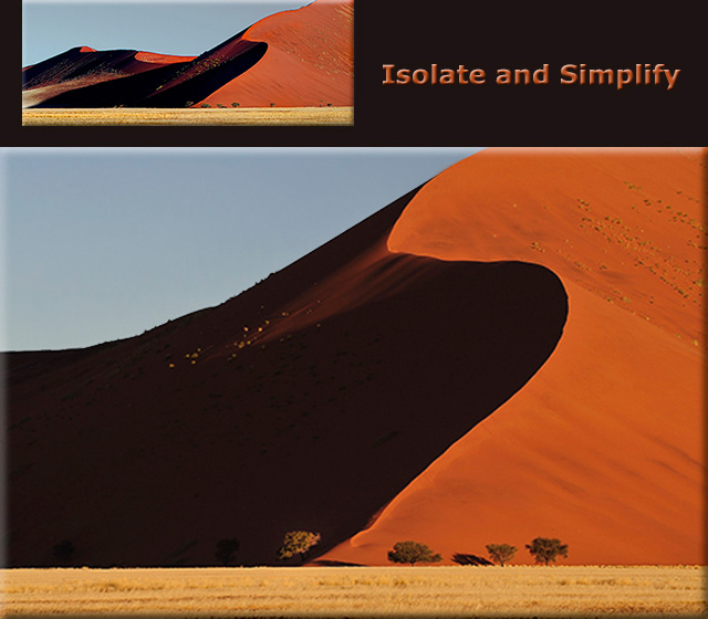 Photo critique: Image of red sand dunes at sunset on the Namib Desert, Namibia, Africa by Dick Jacobs.