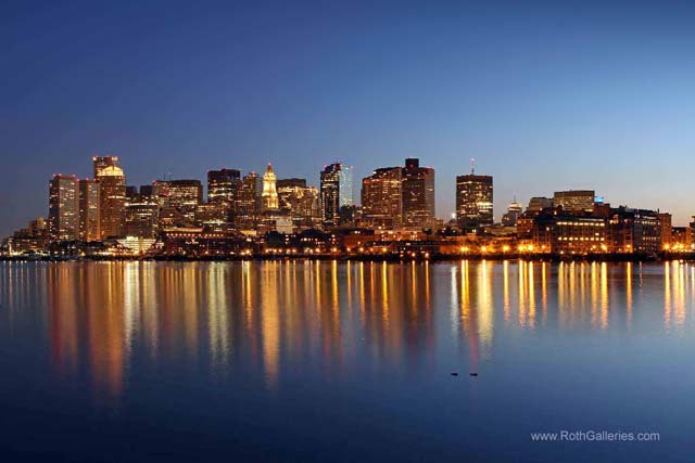 Boston Harbor and Downtown