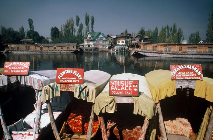 Photo of houseboats on Dal Lake in Kashmir, India by Ron Veto
