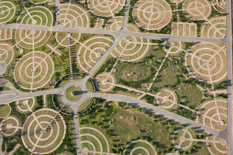 Aerial photo of new burial park in Diepsloot, South Africa by Michael Poliza
