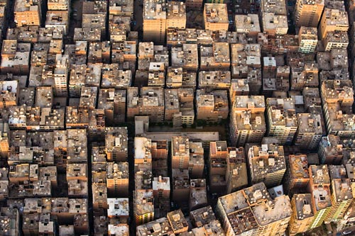 Aerial photo of Cairo suburbs, Egypt by Michael Poliza