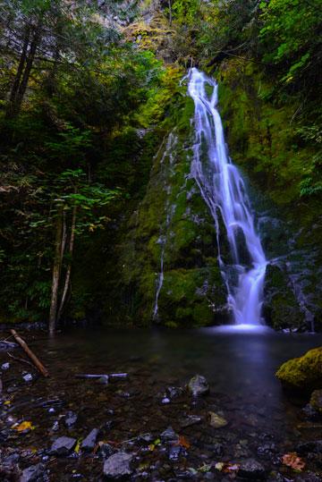 Waterfall photo at Madison Fall, Olympic National Park, Washington by Michael Leggero