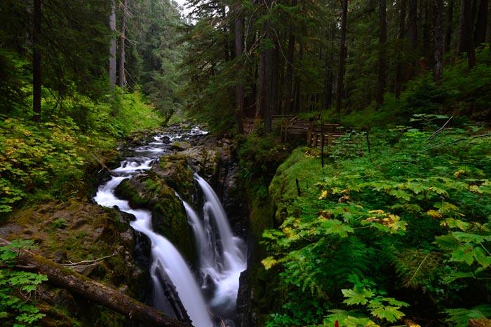 Waterfall photo at Sol Duc Falls, Olympic National Park, Washington by Michael Leggero