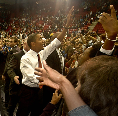 Tips for a Career in Photojournalism: Photo of President Obama after speech in Maryland, USA by Michelle Wong