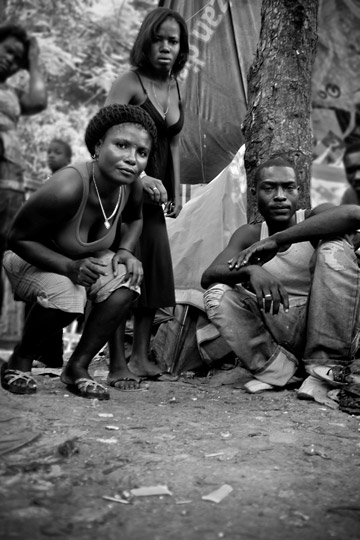 Tips for a Career in Photojournalism: Photo of people in Haiti's Tent City by Michelle Wong