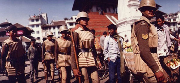 Photo of Nepalese policemen by Ron Veto