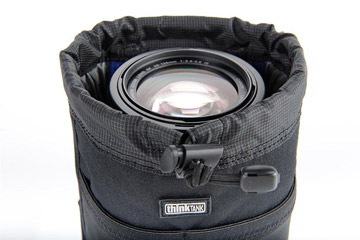 Photo showing open wide-mouth feature on modular Lens Changer pouch by Think Tank Photo