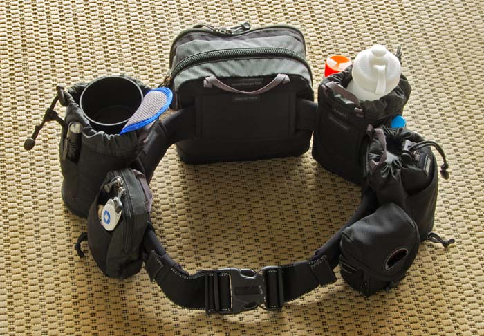 Photo of fully loaded Think Tank Photo Pro Speed Belt and Rotating Modular Components by Marla Meier
