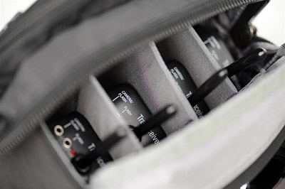 Photo of removable divider in the main compartment of Speed Changer V2.0 modular pouch by Think Tank Photo