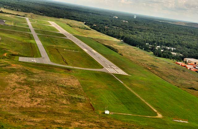 Aerial photo of the Chesterfield County Airport by Allen Moore.