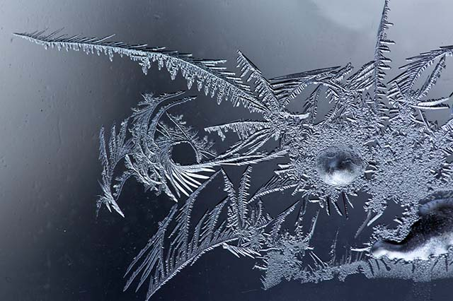 Design of ice crystals by Andy Long.