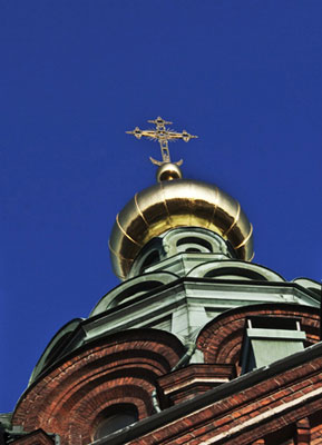 Photo of top of Russian church by Noella Ballenger