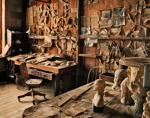 Photo of deceased modeler, Ernst Kadel, office at the Gladding, McBean Terra Cotta Factory by Robert Hitchman