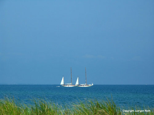 Sailboats on Martha's Vineyard by Juergen Roth.