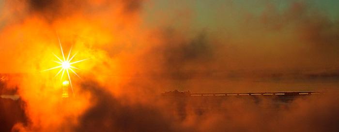 Photo of sun through the mist at Niagara Falls by Anne Westfall
