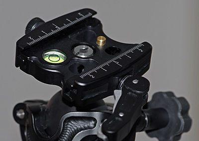 Close-up image of the Acratech Quick Release Locking Lever Clamp by Marla Meier.