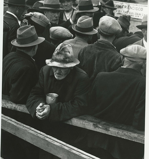 """White Angel Breadline,"" San Francisco, California, 1933, as seen in ""American Masters – Dorothea Lange: Grab a Hunk of Lightning."" Photo Credit: Dorothea Lange, 1933"