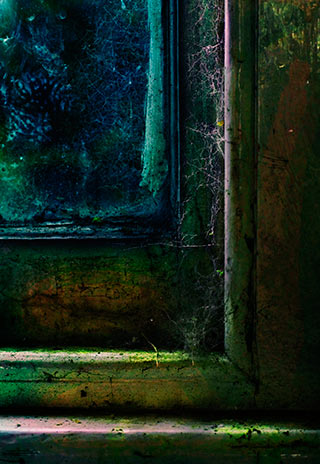 Abstract image of steps, entrance and window with texture and pattern by Eva Polak.