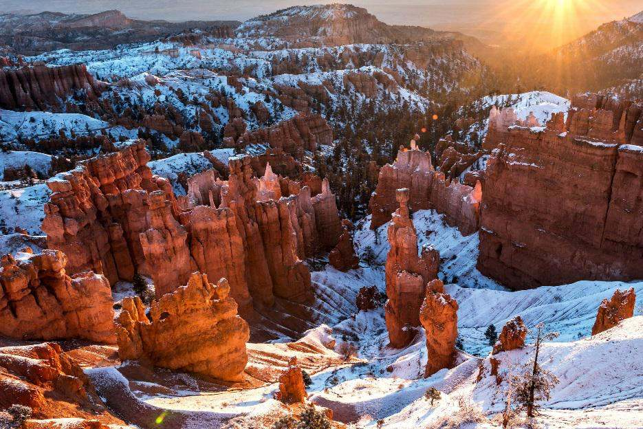 Winter's First Kiss, Bryce Canyon