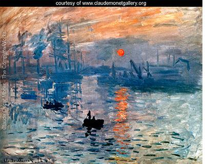 Impression, Sunrise (Impression, soleil levant), Claude Monet, 1872. It was this painting that gave impressionism its name.