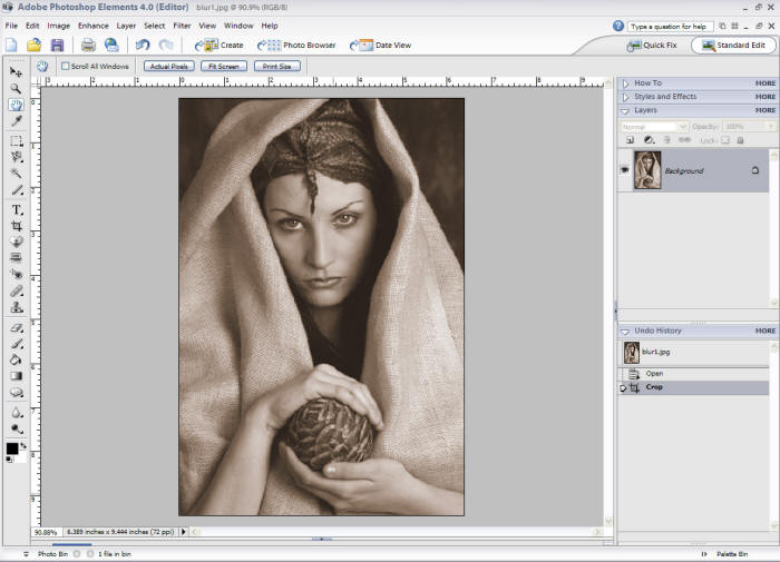 How to fix blur image in photoshop cs6