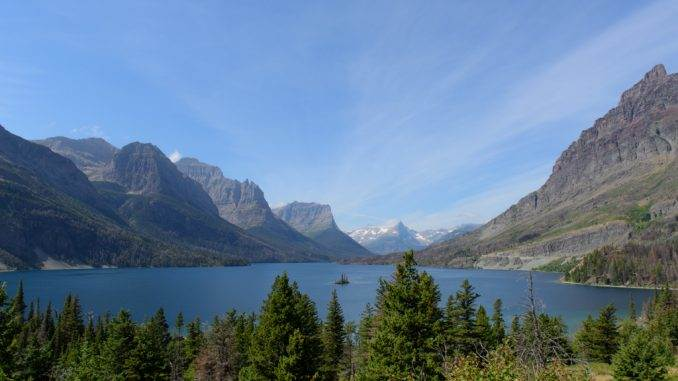 Goose island and St. Mary lake ~ Glacier NP