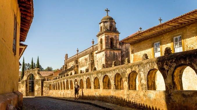 Walking the streets of Patzcuaro, Michoacan