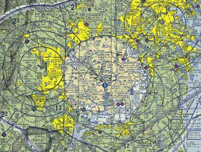 Aerial Photography: image of a pilot's sectional chart by Allen Moore.