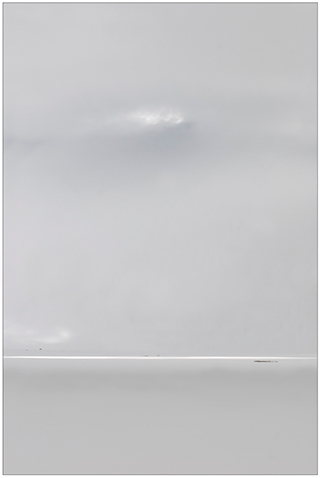 Photographing the Immaterial: gray scale image of snow covered landscape entitled Paddock by Piero Leonardi.