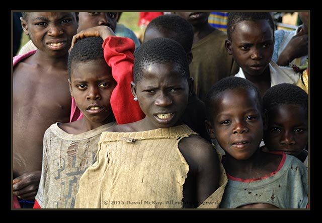 Image of a group of Mozambique children by David McKay.