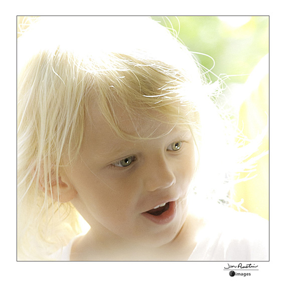High-key image of little girl by Jim Austin