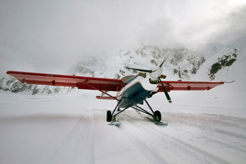 Photo of plane: Talkeetna Air Taxi on glacier of the Alaskan Mountain Range by Barry Epstein