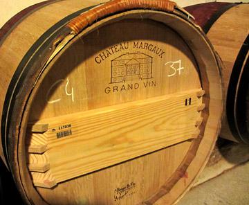 Vintage 2011 Chateau Margaux wine barrel photo by Cliff Kolber